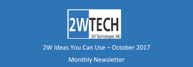 2W Ideas You Can Use - Monthly Newsletter