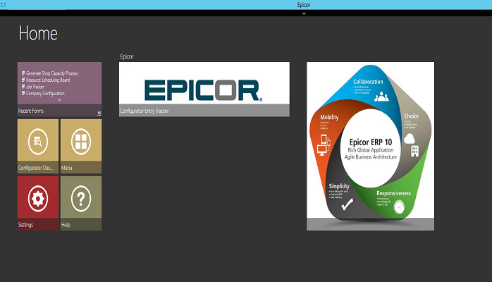 Epicor product configurator Epicor 10