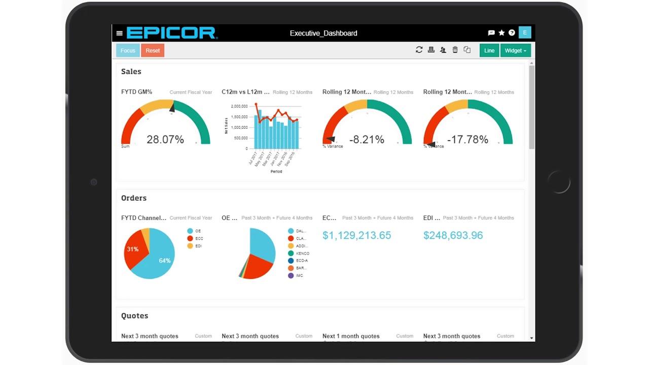 Epicor data analytics and business intelligence data