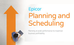 Epicor ERP Planning and Scheduling Epicor Planning and Scheduling Epicor ERP System